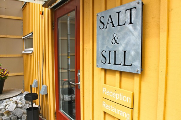 Reception and restaurant entrance to the popular Salt & Sill