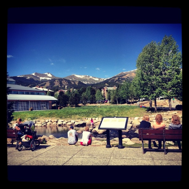 Summer below the Breckenridge Ski Resort