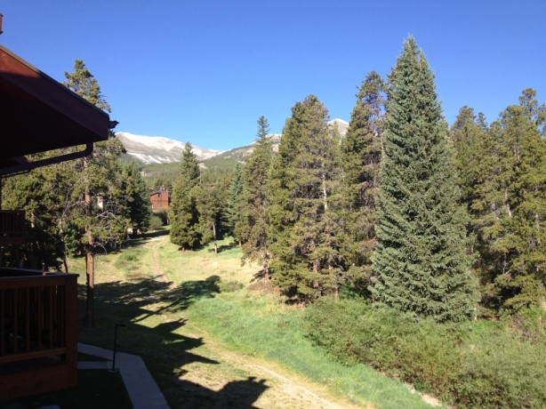 The view from Pine Ridge Condos in Breckenridge