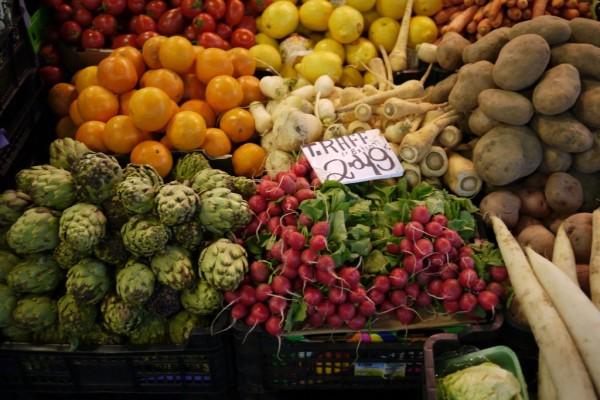 Fresh produce at La Boqueria Mercat in Barcelona