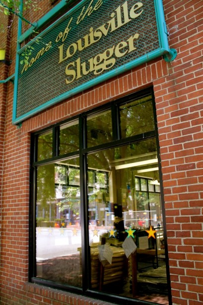 The entrance to the Louisville Slugger Museum