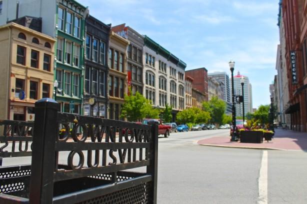 A street in Downtown Louisville, Kentucky