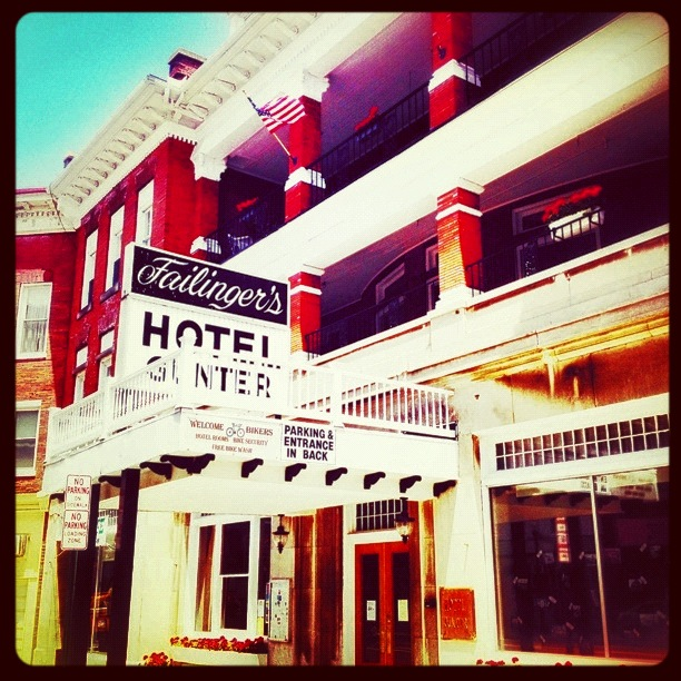 An old hotel on Frostburg, Maryland's main street