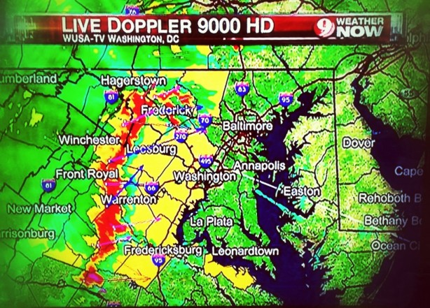 A radar look at the derecho storm that hit Maryland
