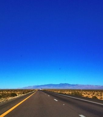The drive north on I-15 past Las Vegas, Nevada