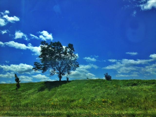 Driving through Iowa on I-80