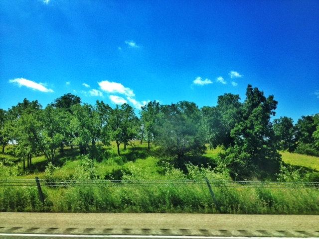Driving on I-80 through Iowa