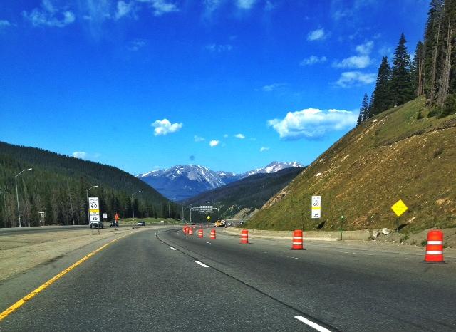 I-70 through the Rocky Mountains in Colorado