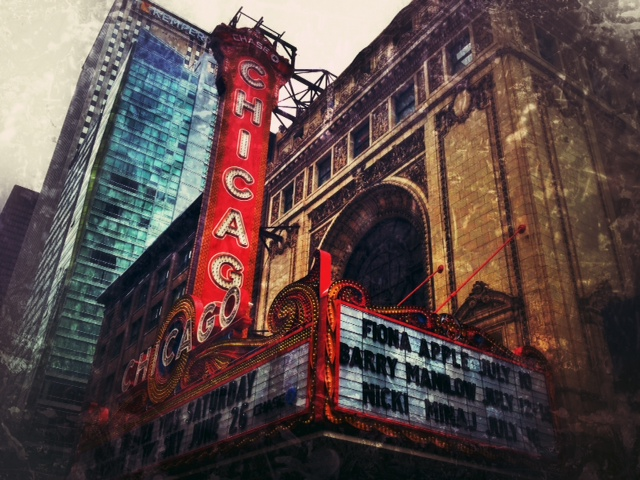 A photo of the Chicago Theater in Downtown Chicago