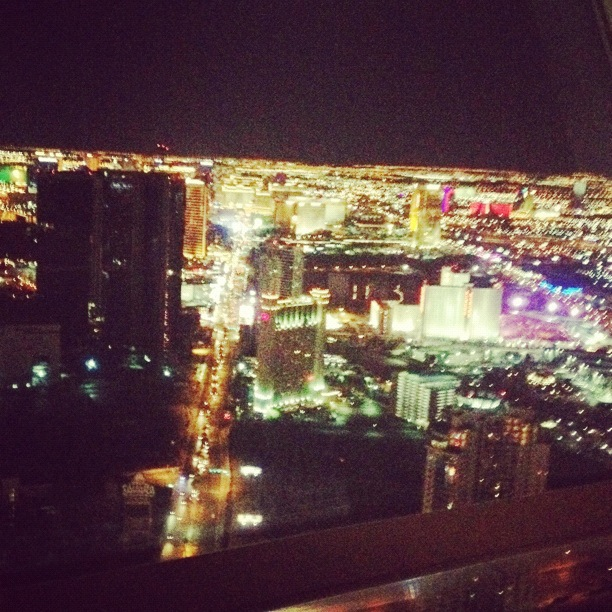 Las Vegas at night, viewed from The Stratosphere