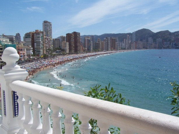 The view during the day of Benidorm, Spain