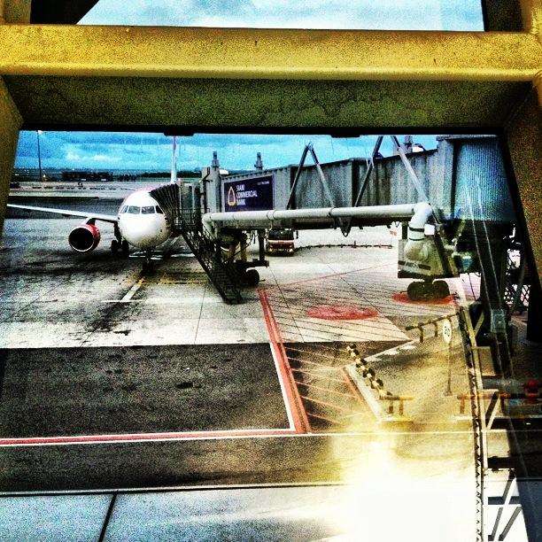 The final flight from Bangkok to Chiang Mai, Thailand