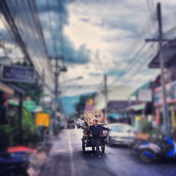 A street in Chiang Mai, Thailand's Old City