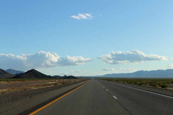En route to Nelson, Nevada