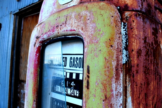 Old gas pump in Nelson, Nevada