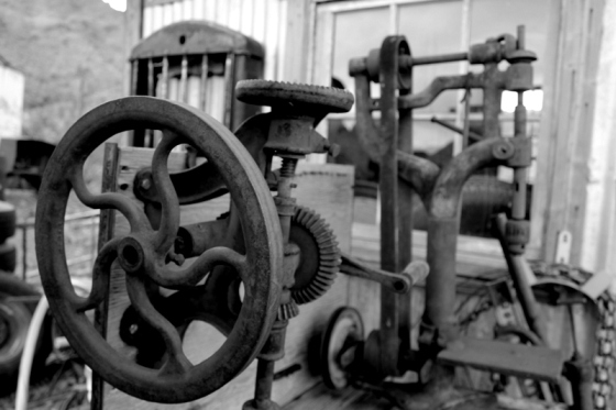 Old machine from Nelson, Nevada
