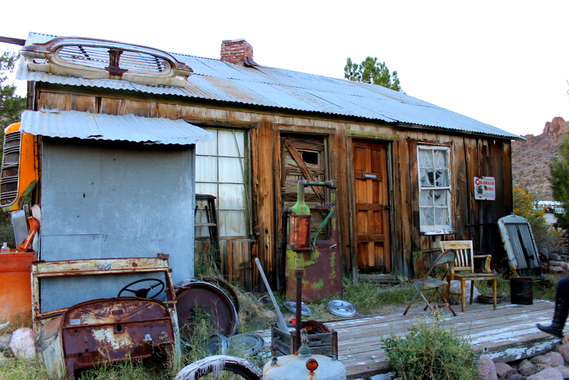 The ghost town of Nelson, Nevada, just outside of Las Vegas
