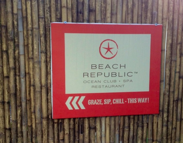 Signs at Beach Republic