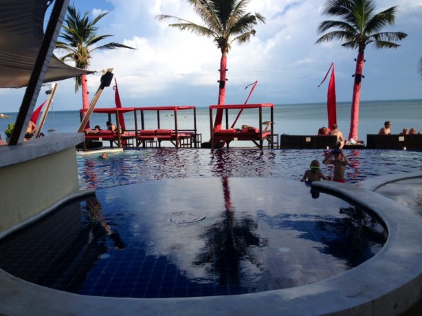 The pool at Beach Republic on Samui