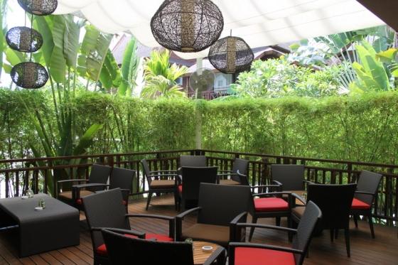 The atmosphere at Amari's Prego on Koh Samui