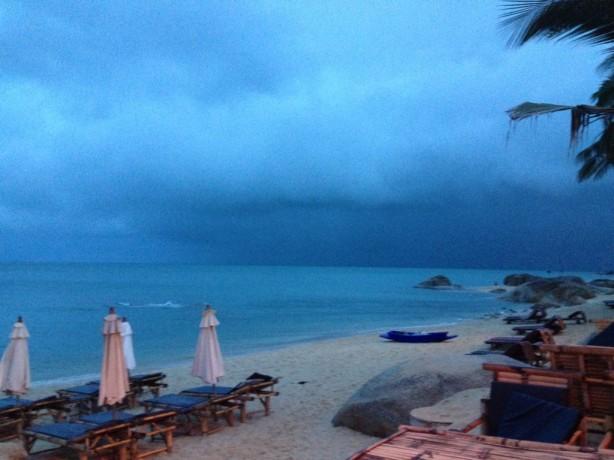 Storm clouds in Koh Samui Thailand