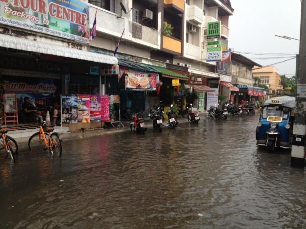 Floods during Chiang Mai rainy season