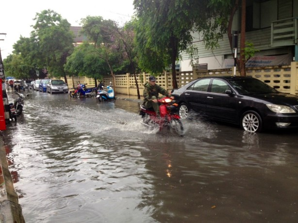 Flooding in Chiang Mai during rainy season