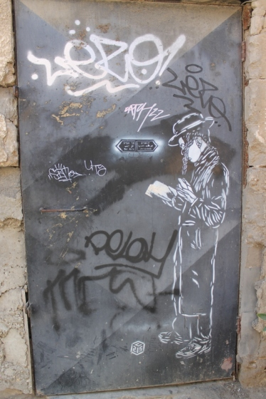 A rabbi as street art