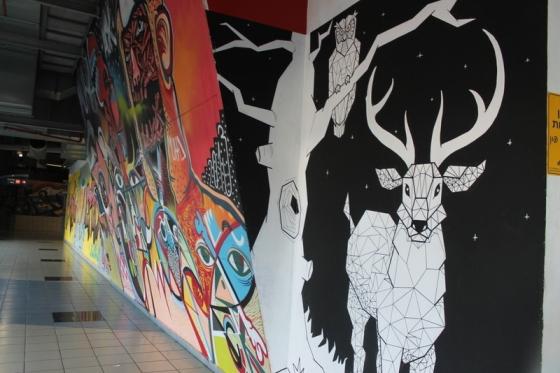 Street art in Tel Aviv bus station