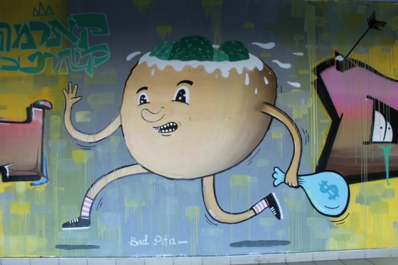 Street art at Tel Aviv bus station