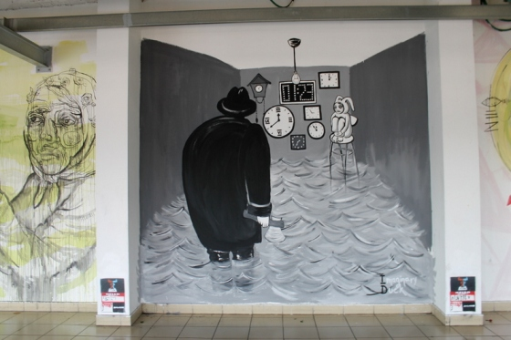 More street art at the exhibition in Tel Aviv's bus station