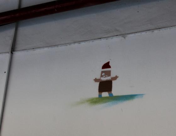 Street art box people