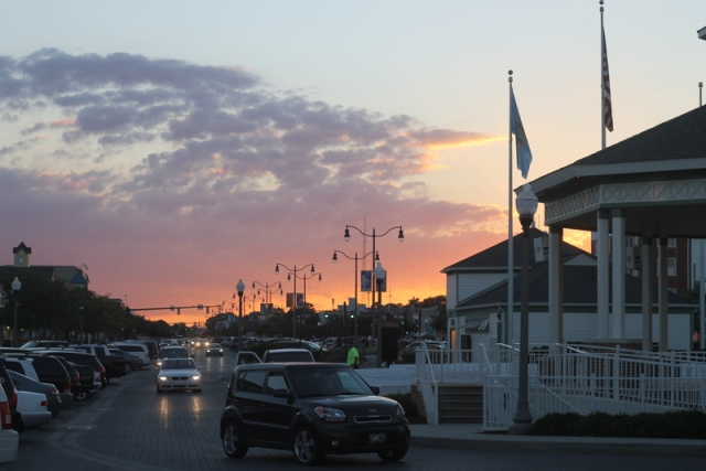 The sunset in Rehoboth