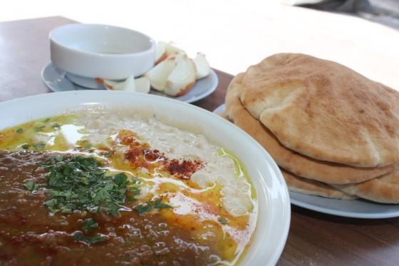 The best hummus in Tel Aviv is at Ali Karavan