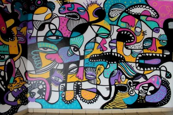 Art by Dioz at Tel Aviv bus station