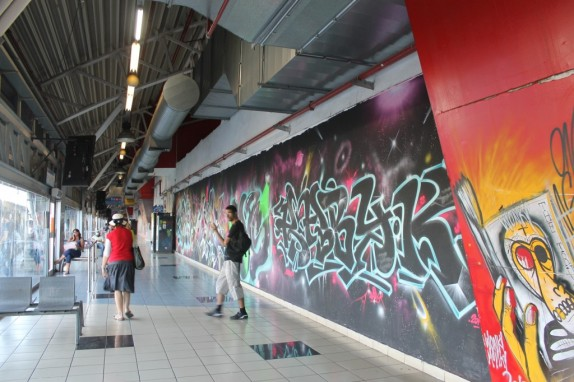 Street art takes over the Tel Aviv bus station