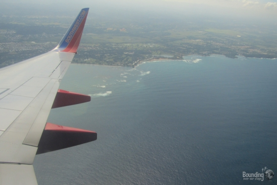 Puerto Rico coast from the plane