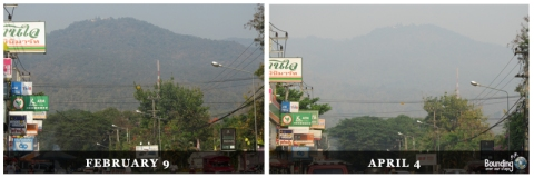 Chiang Mai air quality during burning season