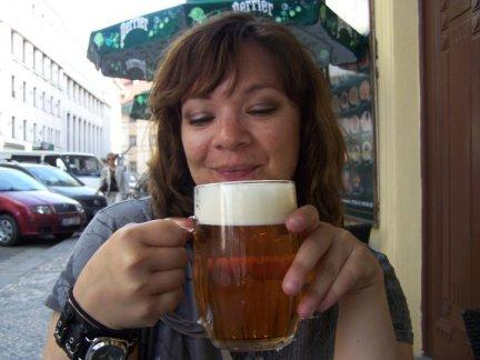 Drinking Pilsner in Prague