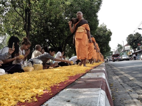 Chiang Mai monks making pilgrimage