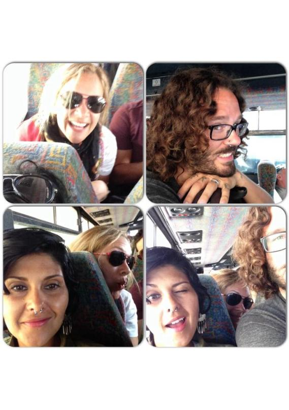 Packed into a bus in Jerusalem ... and still enjoying. Photo: Mindful Wanderlust