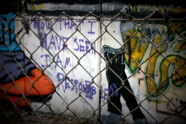 Images from the wall in Bethlehem