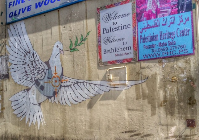 Banksy art in Bethlehem