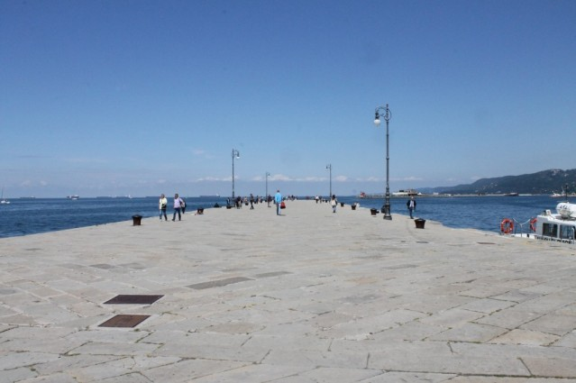 A dock in Trieste, Italy