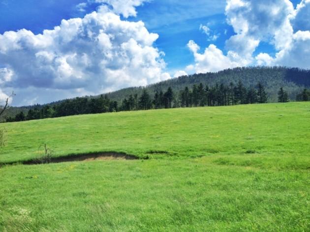 Slovenia countryside en route to Ljubljana
