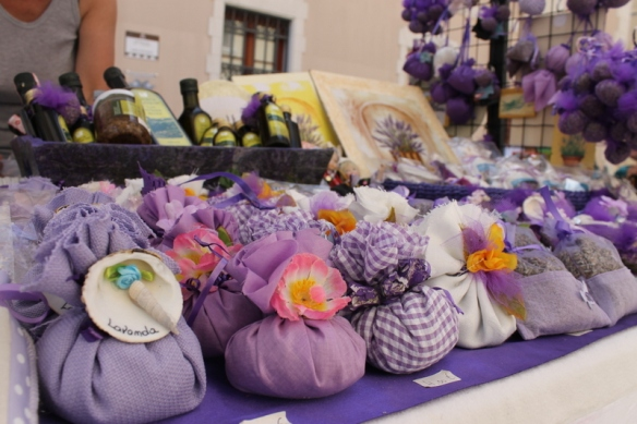 Lavender products for sale in Piran