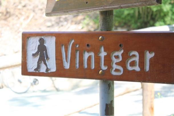 The entrance to Vintgar Gorge in Slovenia