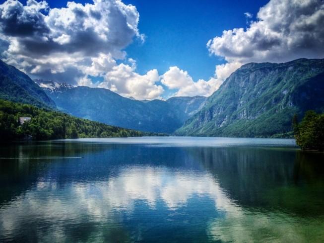 The gorgeous Lake Bohinj in Slovenia
