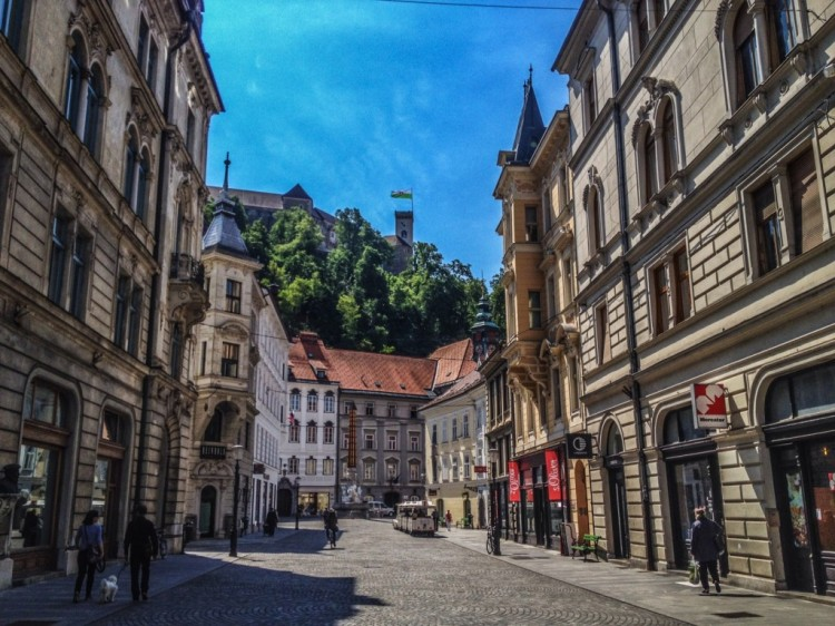 The Ljubljana Castle from the city