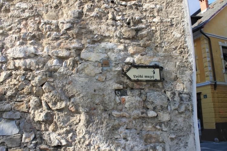 The wall of Skofja Loka